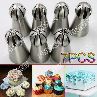 7x Hi-Q Russian icing Piping Nozzle Cupcake Cake Decoration Tip DIY Tool Set