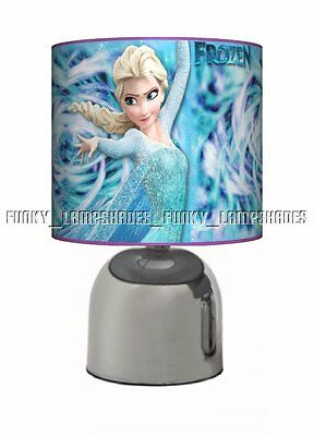 Frozen ☆ Turquoise Lilac Bedside Touch Lamp ☆ Girls Night Light ☆ Matches Duvet