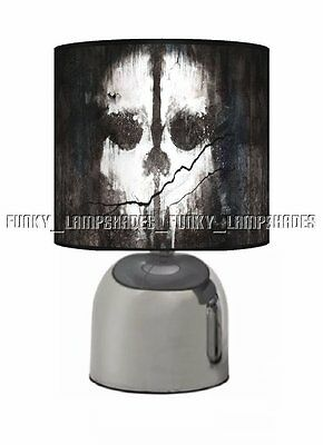Call Of Duty ☆ Black Bedside Touch Lamp ☆ Boys Night Light