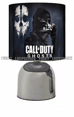 Call Of Duty Ghosts ☆ Black Bedside Touch Lamp ☆ Boys Night Light☆ Matches Duvet