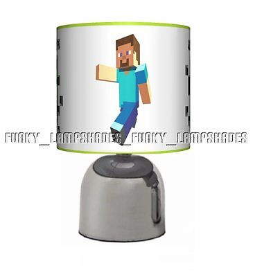 Gaming Gamer ☆ Bedside Touch Lamp ☆ Boys Night Light ☆ Pixelated Pixel