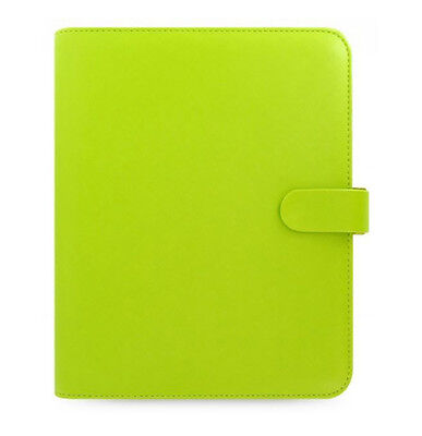 Filofax Saffiano A5 Organiser Pear Green Leather Look Cover With 12 Month Diary