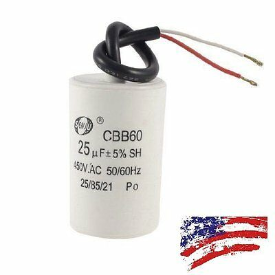 CBB60 450VAC 25uF 5/% Wired Terminal Motor Capacitor DT