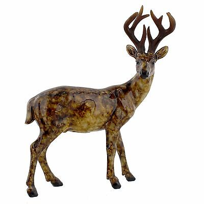 Juliana Natural World Collectables ~ Glazed Standing Stag Deer Ornament 61459