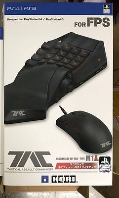 HORI TAC Tactical Assault Commander M1A M-1Mouse & Keyboard Set for PS4 PS3 PC
