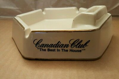 """Vintage Canadian Club """"The Best In The House"""" Ash Tray"""