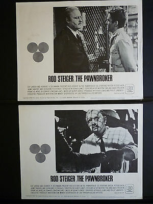 1964 The Pawnbroker - 4 Lobby Cards - Sidney Lumet Directs Rod Steiger - Classic