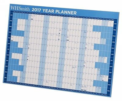 WHSmith A4 Calendar 2017 Year Planner With Holidays And Notable Dates