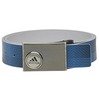 Adidas Ball Marker Printed Golf Belt (Stone/Shock Blue, One Size)