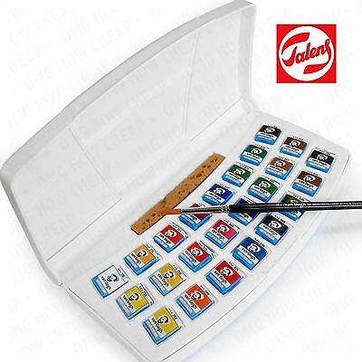 Royal Talens - Van Gogh Water Colour - Plastic Painting Box 24 Paints with Brush