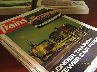 3 Complete Years of Trains Magazine (1973,1974, 1975)