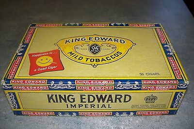King Edward Vii Imperial Mild Tobaccos Vintage 7 Cent Cigar Box/with Smiley Face