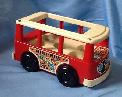 Vintage Fisher Price Little People Mini Bus 1969
