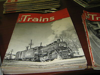 20 Old Back Issues of Trains Magazine (1949 -1951)