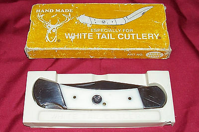 """Old Hand Made White Tail Cutlery Pocketknife 11313-5"""" Knife Vintage Collectible"""