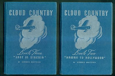 1937 Cloud Country by Jimmie Mattern Books Two & Three - The Pure Oil Company