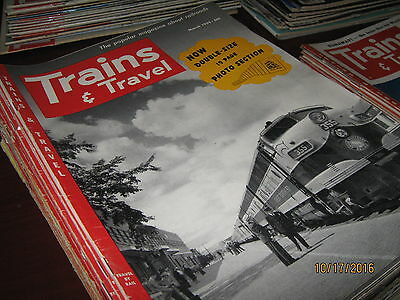 30 Back Issues of Trains Magazine (1952 - 1954)