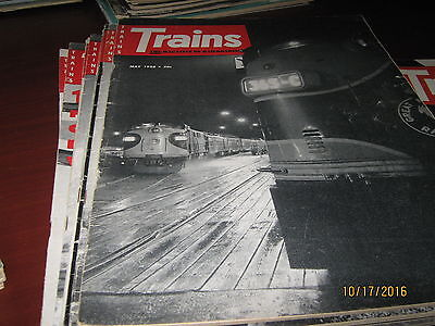 31 Back Issues of Trains Magazine (1955 - 1959)