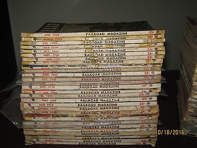(56) Vintage Railroad Magazines from 1940s and 1950s