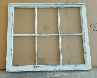 VINTAGE SASH ANTIQUE WOOD WINDOW PICTURE FRAME PINTEREST WEDDING 6 PANE 36x28