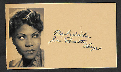 Sister Rosetta Tharpe Autograph Reprint On Original Period 1950s 3x5 Card
