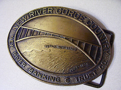 Vintage  Belt Buckle -New River Gorge Country - 1979