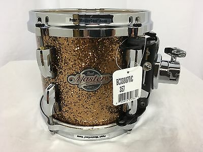 "Pearl Masters BCX 8"" Mounted Tom/Golden Bronze Glitter/Finish #357/Birch Shell"