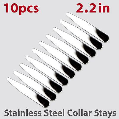 """10pcs size 2.2"""" Glossy Finish Stainless Steel Collar Stays"""