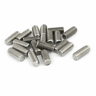 M8 x 20mm 1.25mm Pitch 304 Stainless Steel Fully Threaded Rods Hardware 20 Pcs