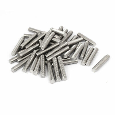 M8 x 40mm 304 Stainless Steel Fully Threaded Rods Bar Studs Fasteners 50 Pcs