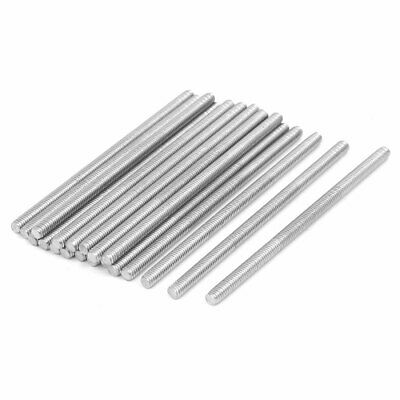 M4 x 80mm 304 Stainless Steel Fully Threaded Rod Bar Studs Silver Tone 20 Pcs