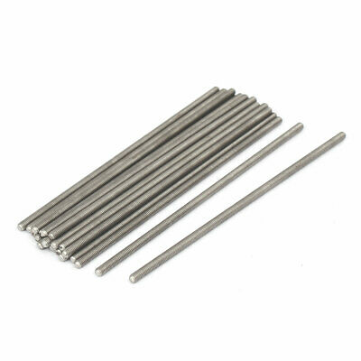 M3 x 100mm 0.5mm Pitch 304 Stainless Steel Fully Threaded Rods Fasteners 20 Pcs
