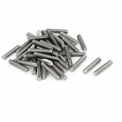 M5 x 25mm 304 Stainless Steel Fully Threaded Rod Bar Studs Fasteners 50 Pcs