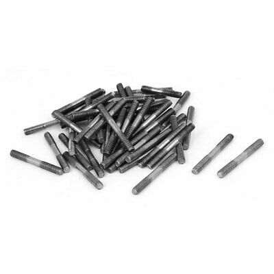 M3x25mm 304 Stainless Steel Double End Threaded Stud Screw Bolt 50pcs