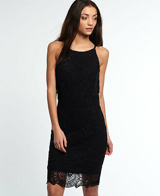 New Womens Superdry Racy Lacy Dress Black