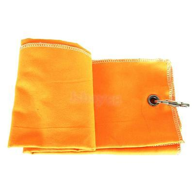 Portable Tri-fold Golf Towel Camping Hiking Golf Accessory Orange