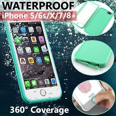 Waterproof Dirt/Shockproof Thin Tough Case Cover For iPhone 8 Plus 7 X 6S 5S SE