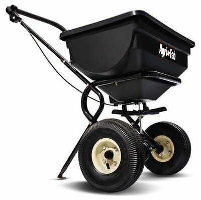 Agri-Fab 85-Pound Push Broadcast Spreader 45-0388 Towed on 2 10-by-1-3/4-inc NEW