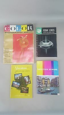 Lot of 4 vintage photography manuals and magazines