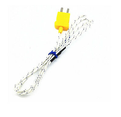 1/2/5/10PCS 100cm Length Wire Temperature Test K-type Thermocouple Sensor Probe