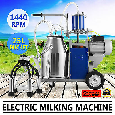Electric Milking Machine For Farm Cows Bucket barrel 304 Stainless Steel Bucket