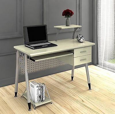 Home Office Study PC Workstation Computer Desk Laptop Table Furniture 2 Drawers