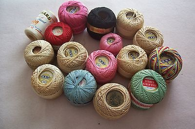 Vtg Antique Edwardian Victorian Cotton Crochet Embroidery Sewing Thread