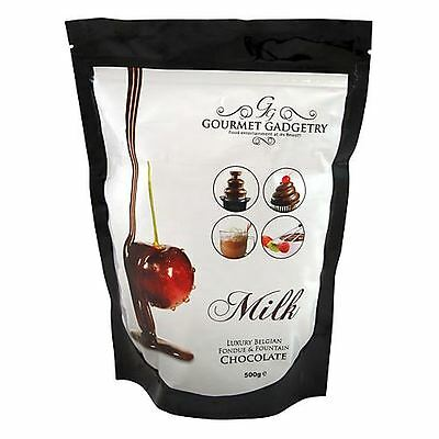 Luxury Belgian Fondue and Fountain Chocolate- 500g - Serves 10 Party Ideas