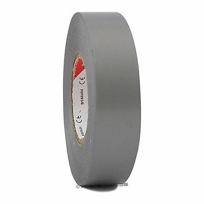 "1 Roll Gray Vinyl PVC Electrical Tape 3/4"" x 66' Flame Retardant Free Shipping"