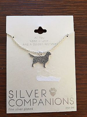 Golden Retriever SILVER NECKLACE
