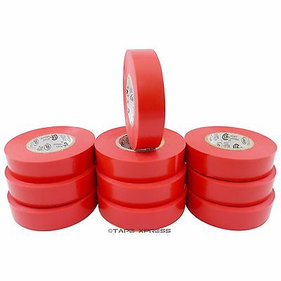 "TapesSupply FREE SHIPPING 10 Rolls Rainbow Electrical Tape 3//4/"" x 66 ft"