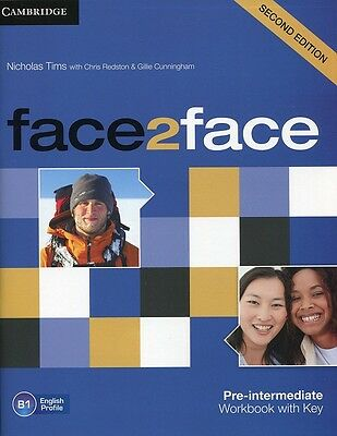 face2face Pre-intermediate Workbook with Key, Tims, Nicholas, New condition, Boo