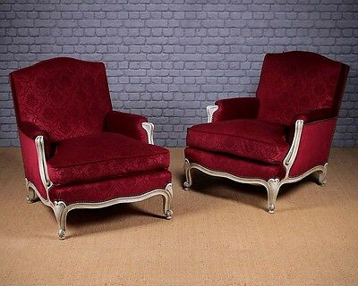 Antique Pair of French Easy Armchairs c.1930.