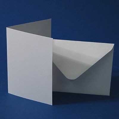 A6 Blank Cards & Envelopes White Pack of 100